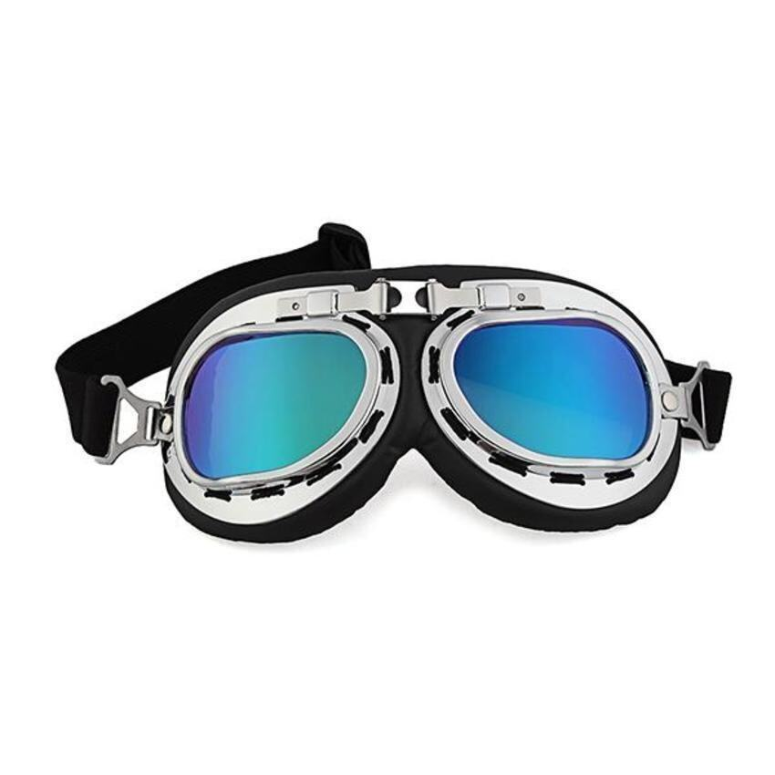 CTO Vintage Style Aviator Pilot Motor Motorcycle Goggles Helmet Colorful Glasses