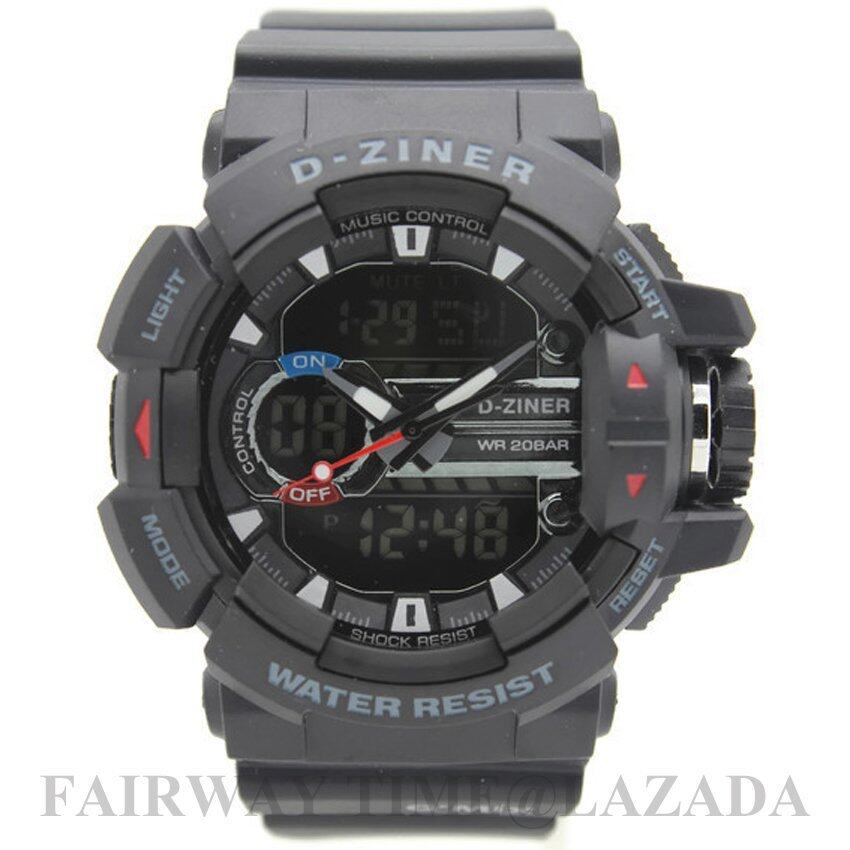 D - ZINER นาฬิกาข้อมือแนว SPORT ชาย 2 ระบบ(ANALOG&DIGITAL)กันนํ้า100% รุ่น DZ89-016 ...