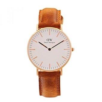 Daniel Wellington Classic Quartz Gold and Leather Casual Watch Color:Brown (Model: DW00100111) - intl