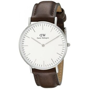 Daniel Wellington Mens 0209DW Bristol Stainless Steel Watch With Brown Leather Band - intl