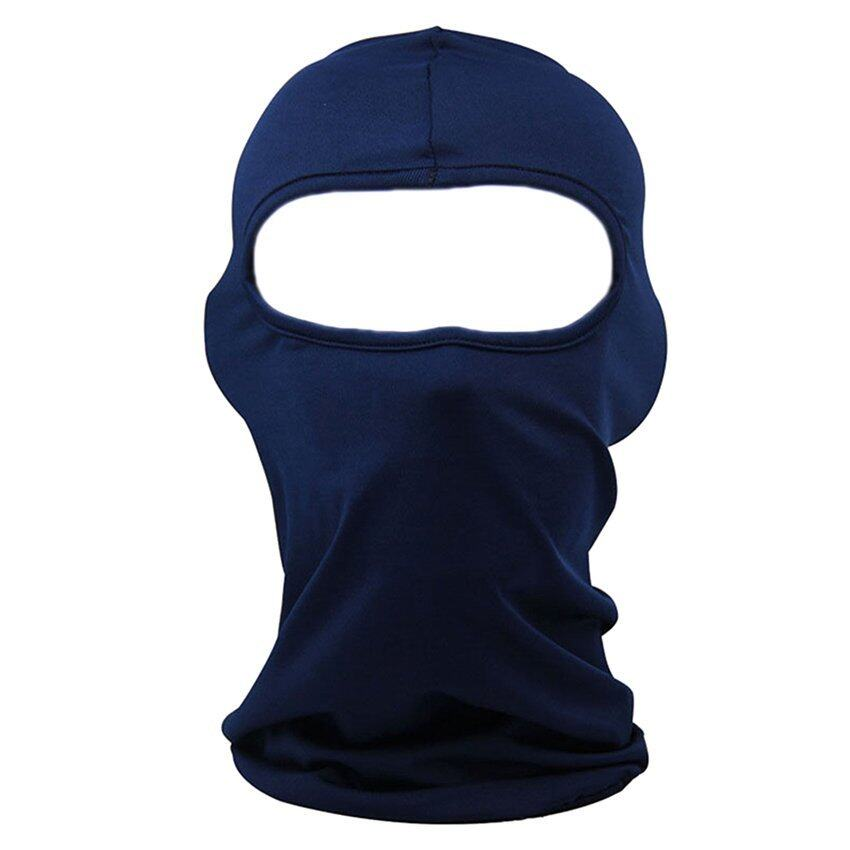 DHS. Cocotina Outdoor Winter Motorcycle Cycling Full Face Mask Balaclava Ski Neck Protection (Dark Blue))