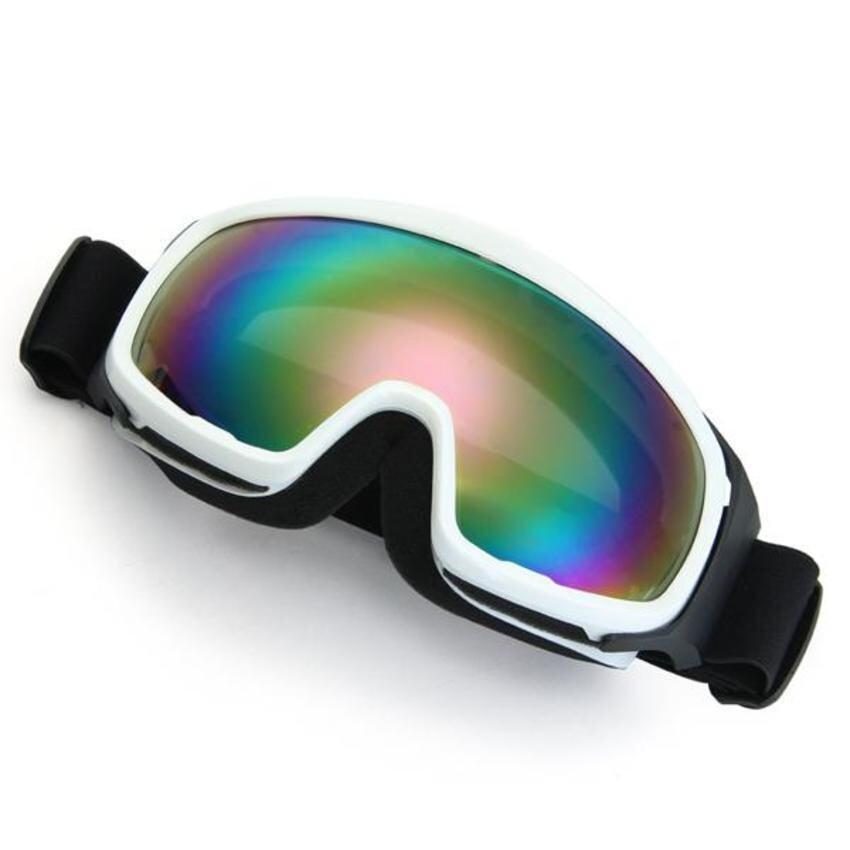 DHS Motorcycle Motocross Enduro Helmet Ski Snowboard Protective Glasses Goggle White)