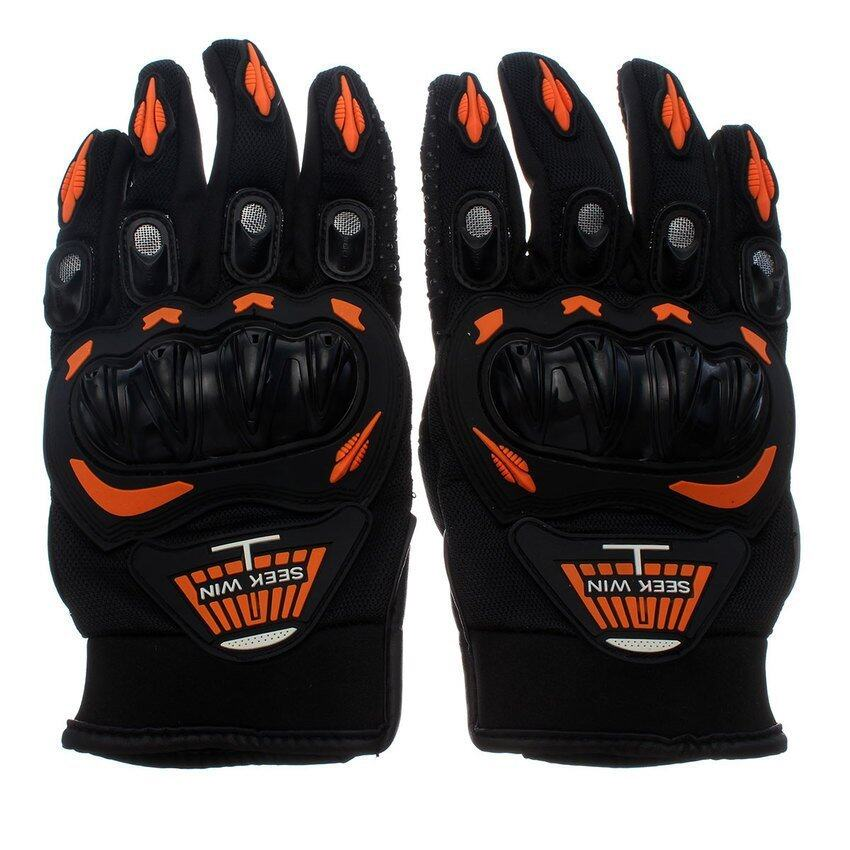 DHS SEEK WIN SC-01 motorcycle gloves Orange M)