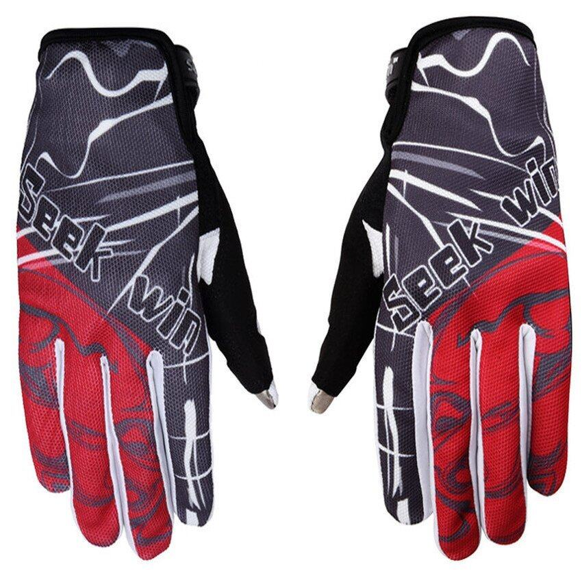 DHS SEEK WIN SK-12 motorcycle gloves Red M)