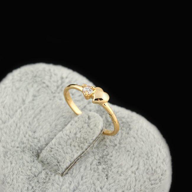 นำเสนอ EOZY Never Fade 18K Gold Plated Copper Zircon Ring (golden) สุดคุ้ม