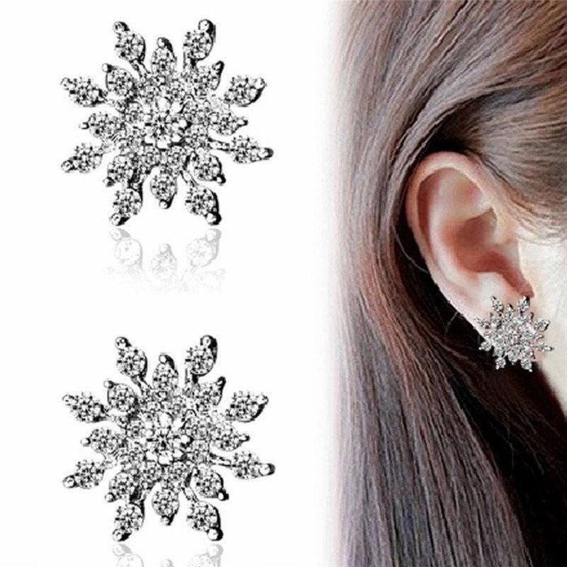Fashion neoclassical attractive silver earrings crystal earrings Crown(Random color) - i ...