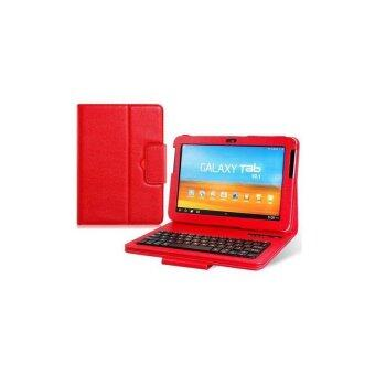 Faux Leather Flip Case with Built in Bluetooth Keyboard for Samsung Galaxy Tab P7510 10.1 Tablet PC (Red)