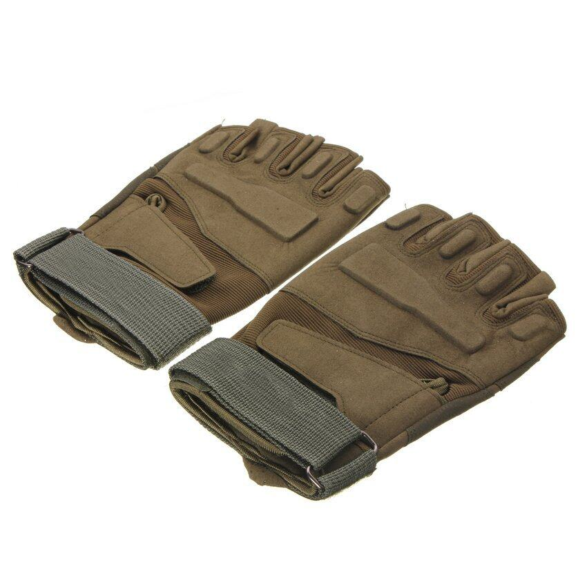 FSH Motorcycle Full Finger Airsoft Military Tactical Knuckle Half Gloves M Size