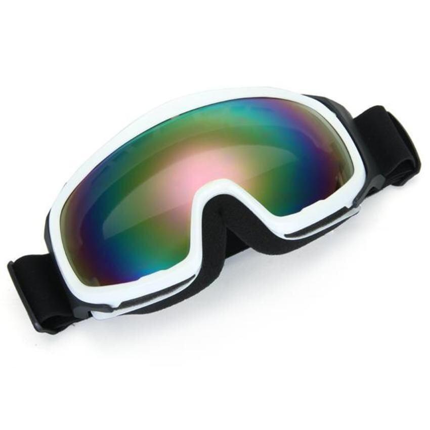 FSH Motorcycle Motocross Enduro Helmet Ski Snowboard Protective Glasses Goggle White