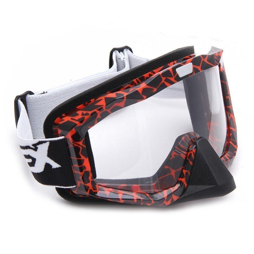FSH Motorcycle Motocross Ski Protective Glasses Goggle With Nose Guard (Red)