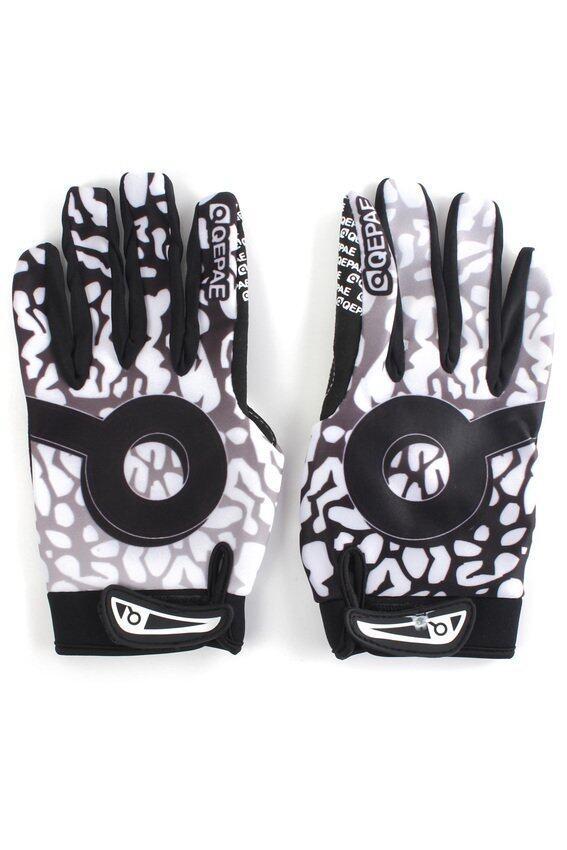 FSH QEPAE Winter Windproof Cycling Bike Motorcycle Full Finger Gloves L