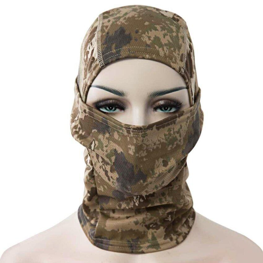 Full Face Motorcycle Tactical Skiing Cycling Face Mask(Brown) - intl