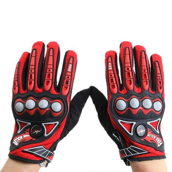 Full Finger Safety Bike Motorcycle Racing Gloves for Pro-biker MCS23 Orange L - intl