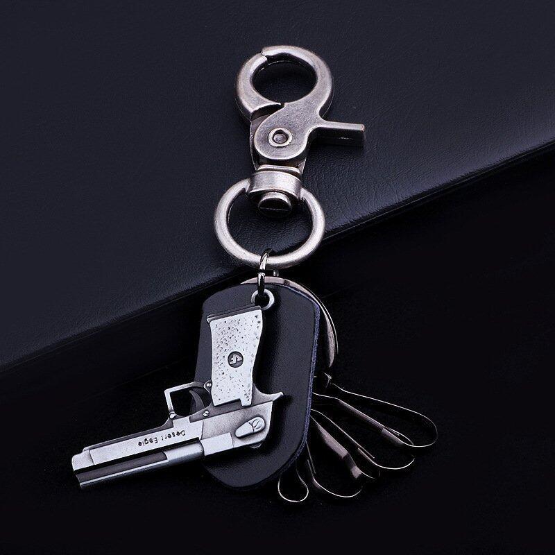FulluStyle พวงกุญแจ สำหรับห้อยอเนกประสงค์ ปืน Gun Handmade Made inkorea (สีดำ) ...