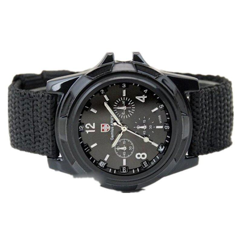 Gemius Army Racing Force Military Sport Mens Fabric Band Watch (Black) ...