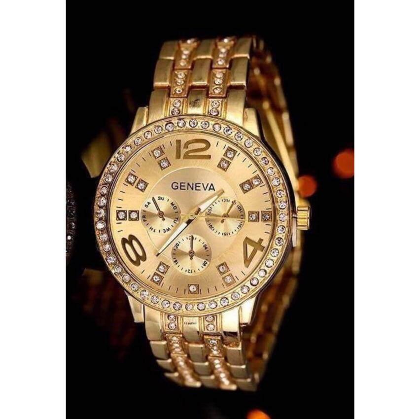 GENEVA GN013 นาฬิกาแฟชั่น,ใบรับประกันสินค้าจากศูนย์,พร้อมกล่อง ...