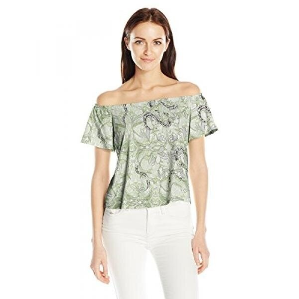 GPL/ Guess Womens Off Shoulder Amore Top, Snake in the Garden Scuffy, M/ship from USA - intl