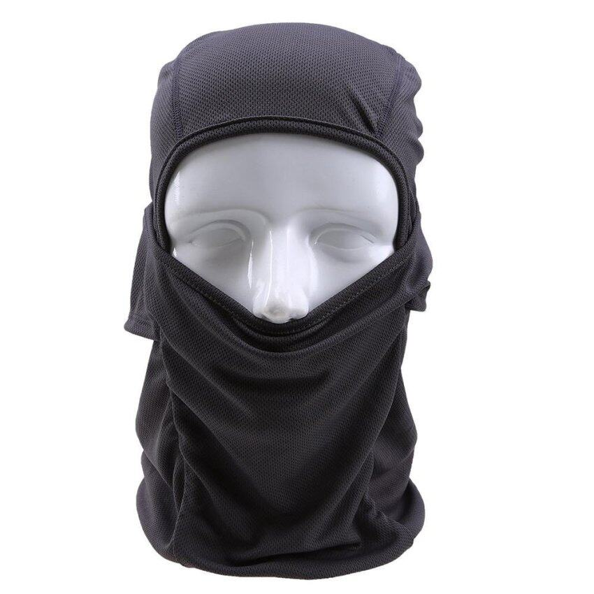 Grey Windproof Motorcycle Cycling Face Cap Hat Outdoor Full Face Mask - intl