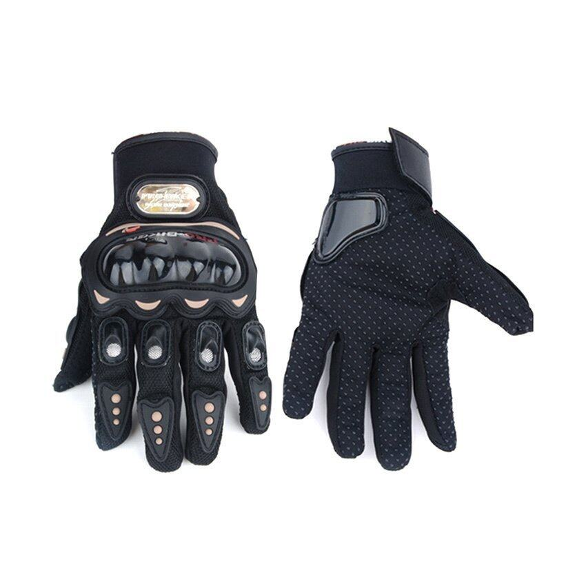 Haloo New Motorcycle Bike FULL FINGER Racing Riding Sports Protective Gloves Black M L XL