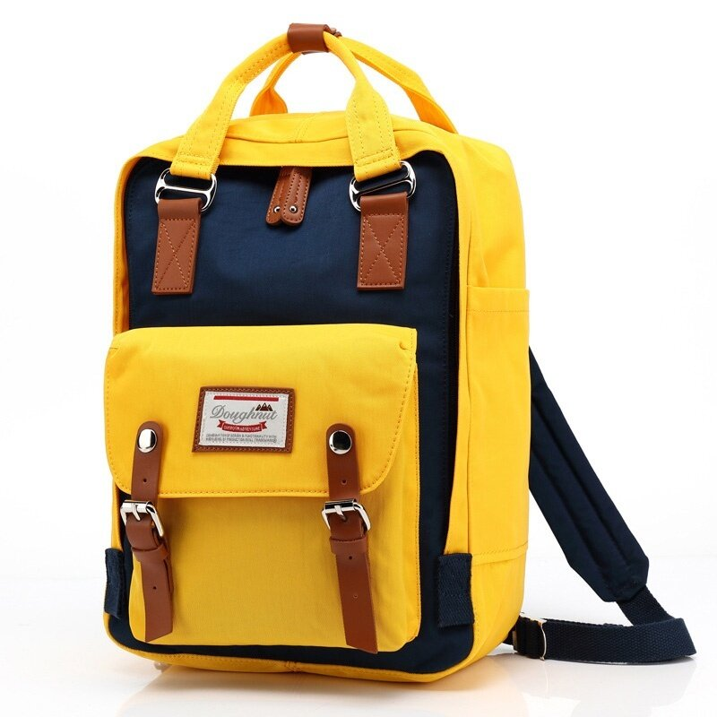 Happy Buy British Style Men Women Backpacks Doughnut Patchwork Fashion Students School Bags for Girls Candy Canvas Backpack Classic - intl