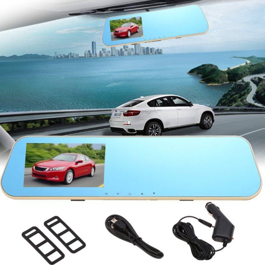 HD 1080 P 4.3' Car Rearview Mirror Vehicle Camera Dash Cam Video Recorder G-Sensor - int ...
