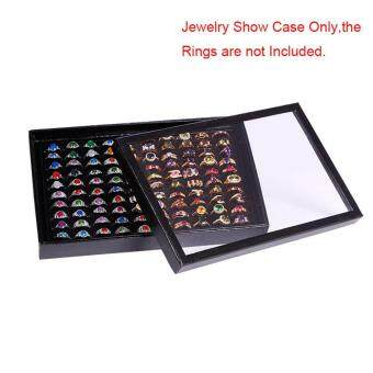 High Quality Store New New 100 Slots Ring Storage Earrings DisplayBox Jewelry Organizer Holder Show Case Black