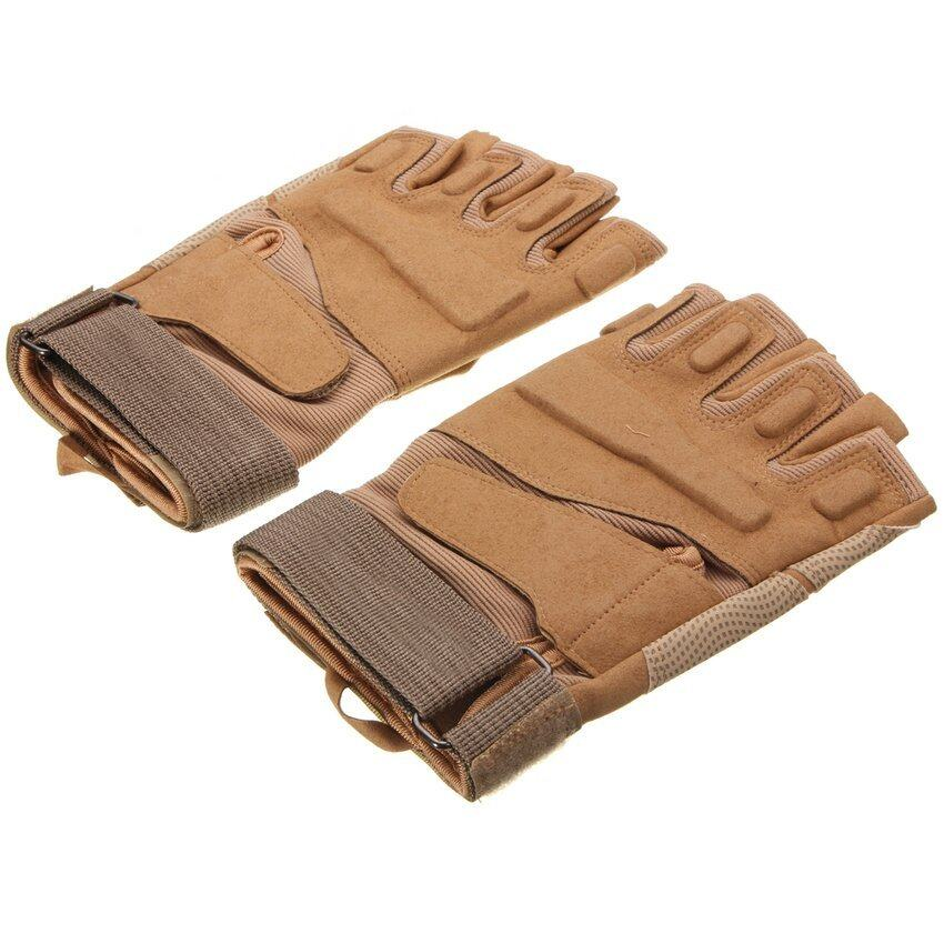 HKS Motorcycle Full Finger Airsoft Military Tactical Knuckle Half Gloves - intl