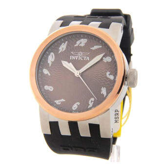 Invicta 12794 Dna Brown Dial Black Polyurethane Strap Mens Watch (Intl)