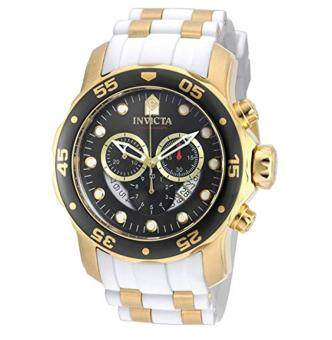 Invicta Pro Diver Chronograph Mother of Pearl White Polyurethane Mens Watch 20289 - intl