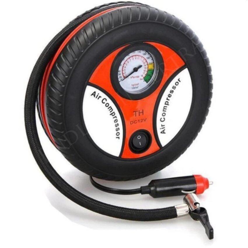 iremax ปั้มลมไฟฟ้าสำหรับรถยนต์ ปั๊มเติมลมยางล้อรถยนต์ฉุกเฉิน แบบพกพา รูปล้อรถ Air Pump ส ...
