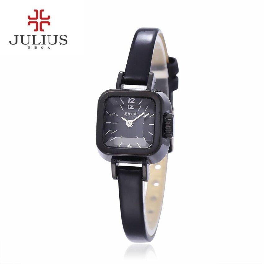 Julius JA – 496 Female Quartz Watch Slender Strap Stereo Cut Mirror Square Dial 3ATM Wristwatch – intl