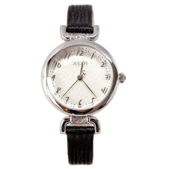 Julius นาฬิกาข้อมือผู้หญิง สายหนัง รุ่น JA-854-black