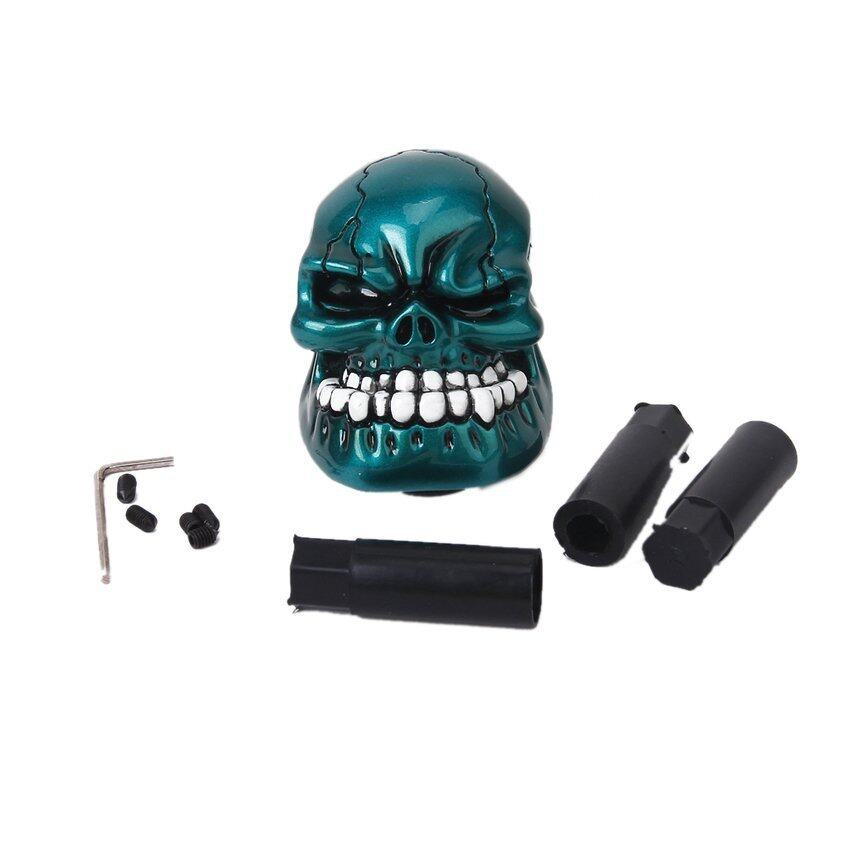 JUMPOVER Aluminium Alloy Human Skull Universal Car Truck Manual Gear Shift Knob - Peacock Blue