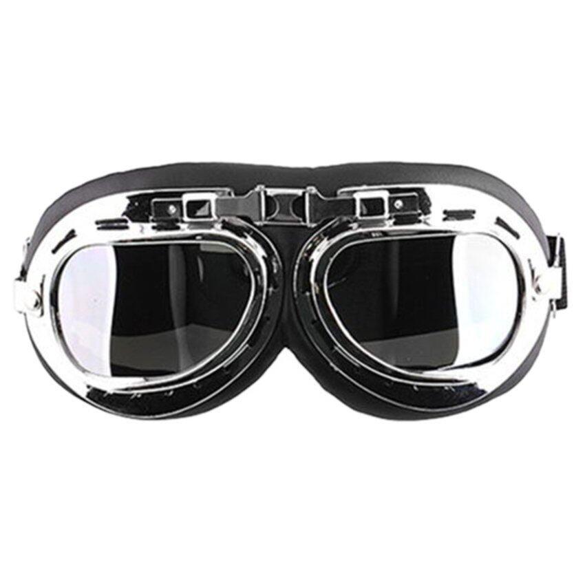 JUMPOVER Men Motorcycle Helmet Goggles (Black)