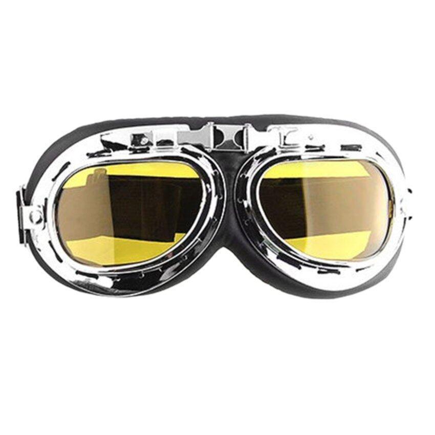 JUMPOVER Men Motorcycle Helmet Goggles (Yellow)