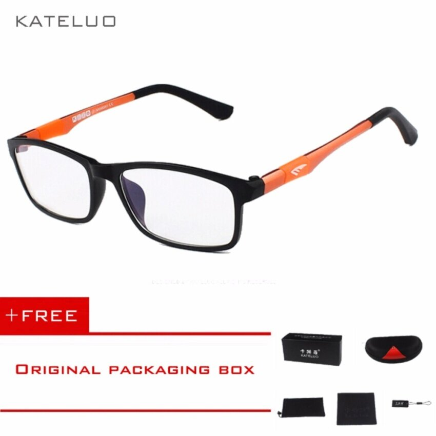... kateluo 2016 new brand reading glasses men woman computer uvglasses fatigue radiation eyeglasses myopia frame black
