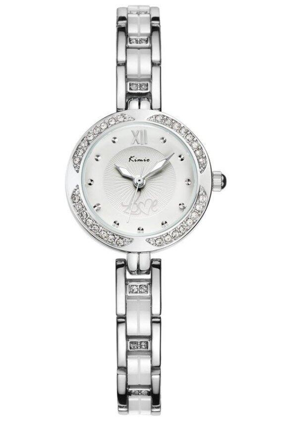 ด่วน Kimio นาฬิกาข้อมือผู้หญิง สีขาว/เงิน สาย Alloy รุ่น KW6000 กำลังลดราคา