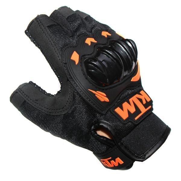 ขาย KTM Motorcycle Gloves Orange Green Color Half Finger Protect Hands Guantes (SIZE: XXL) - intl