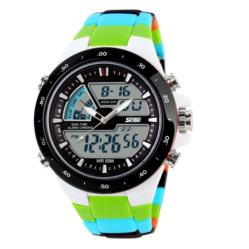 Lady's Calendar Personality Electronic Watch With Waterproof Outdoor Sports Wristwatches(Black)(INTL)