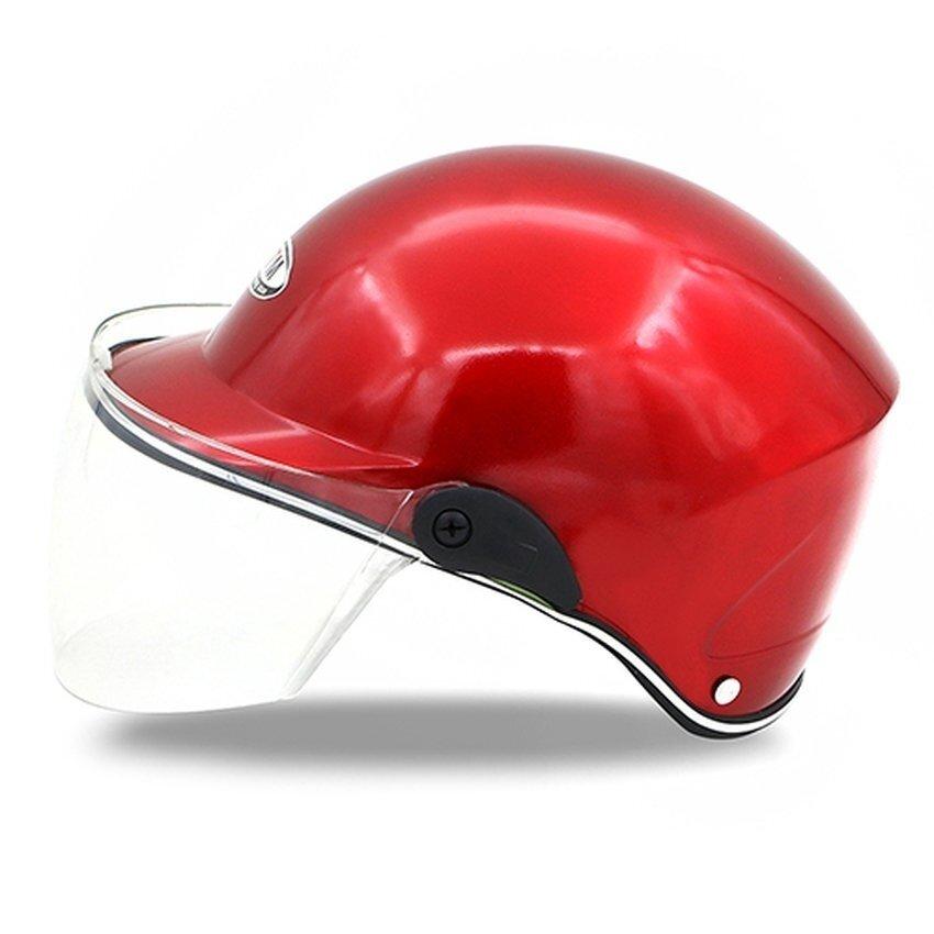 leadingtrust Unisex Open Half Face Dual Visor Adult Motorcycle Helmets Motocross Helme-Red - intl