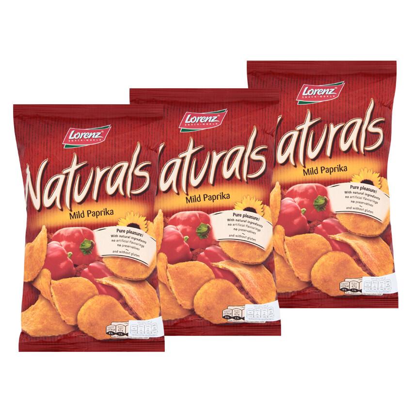 LORENZ NATURALS ลอเรนซ์ เนเชอรัลส์ มันฝรั่งแผ่นเรียบอบกรอบ รสปาปริก้า 100 กรัม (แพ็ค 3 ห่อ)