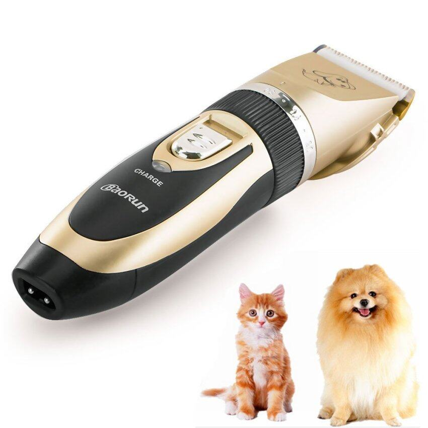 Low Noise Rechargeable Cordless Pet Dogs and Cats Electric Clippers Grooming Trimming Ki ...
