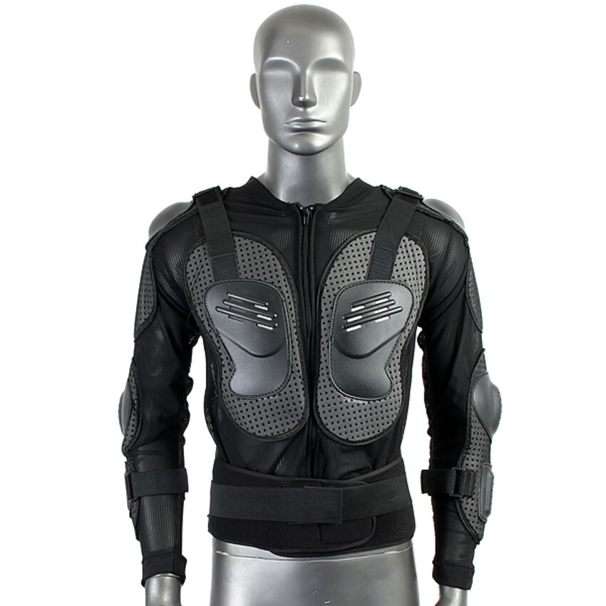 Lucky Motorcycle Full Body Protective Armor Jacket Spine Chest Shoulder Riding Gear - intl