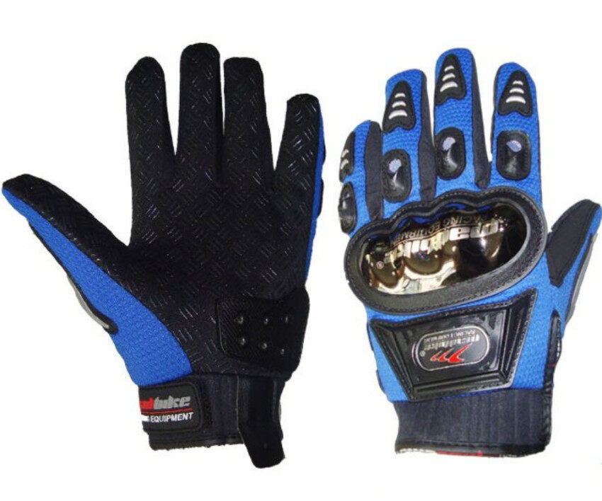 Madbike A-01S Alloy Steel Motorcycle Gloves Blue