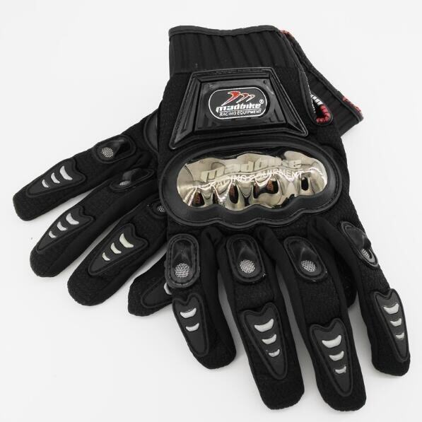 Madbike A-01S Half-finger Racing Gloves Breathable Wearable Protective Gloves for Motorcycle Black (Intl) - intl