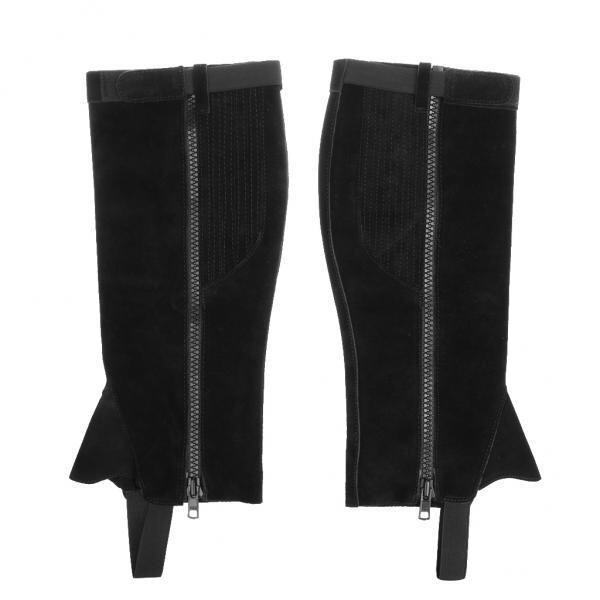 MagiDeal Cow Leather Half Chaps Gaiters Calf Protector for Equestrian Horse Riding M - intl