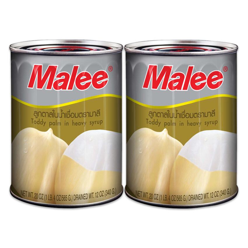 MALEE มาลี ลูกตาลใหญ่ในน้ำเชื่อม 20 ออนซ์ (แพ็ค 2 กระป๋อง) ...