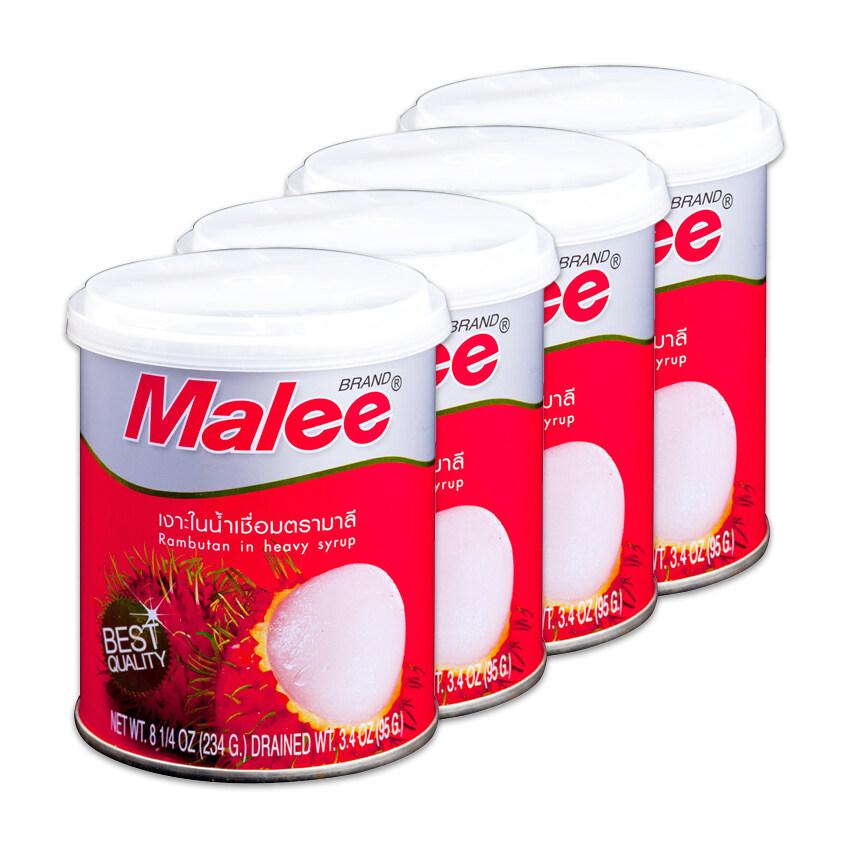 MALEE มาลี เงาะในน้ำเชื่อม 8.25 ออนซ์ (แพ็ค 4 กระป๋อง) ...