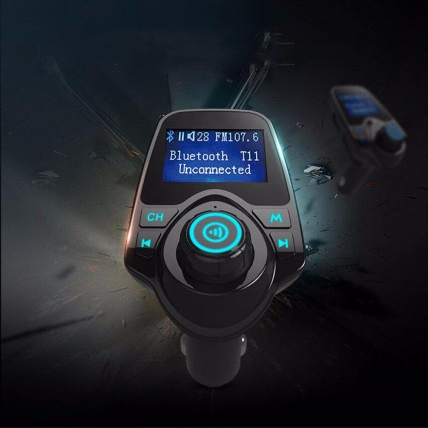 Mango Gadget T11 Car Kit Wireless Bluetooth เครื่องเล่นเพลง บลูทูธติดรถยนต์ เขื่อมต่อมือถือกับรถยนต์ รุ่นท็อป มีหน้าจอใหญ่ มองชัด