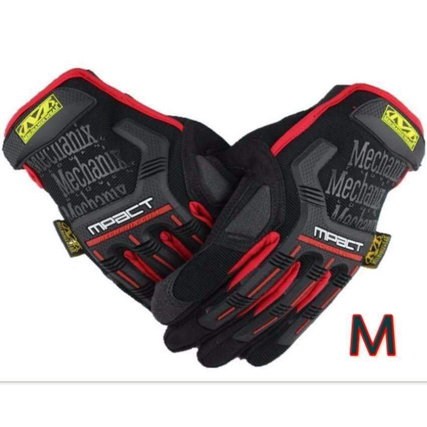ถุงมือ มอเตอร์ไซค์ จักรยาน เต็มนิ้ว Mechanix Wear MPact Outdoor sport Size L สี Black
